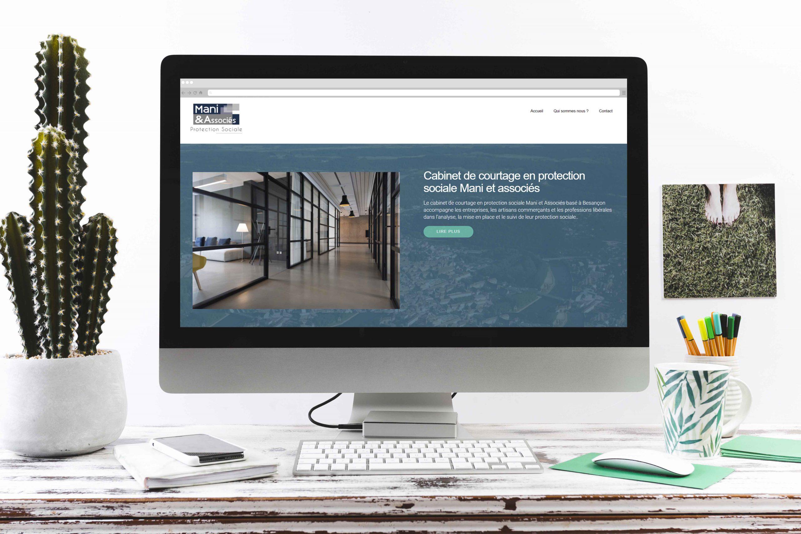 Site web pour Mani et Associés